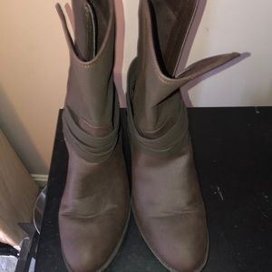 Chaps above ankle boots